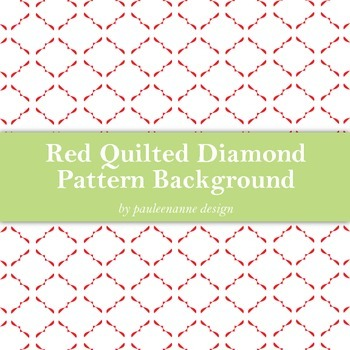 Red Quilted Diamond Pattern Background
