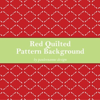 Red Quilted Pattern Background