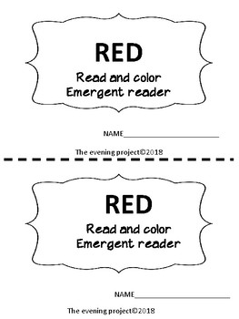 Red-Read and color emergent reader with clip art