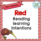 Red Reading Learning Intentions Display - New Zealand
