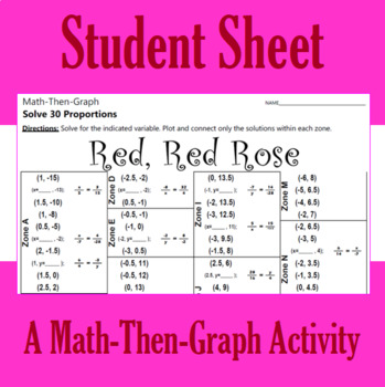 Red, Red Rose - A Math-Then-Graph Activity - Solving Proportions