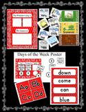 Red Rhombus Room Decor ~ Behavior Chart, Teacher Planner, Pennants, Posters Plus
