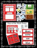 Red Rhombus Room Decor ~ Behavior Chart, Teacher Planner,
