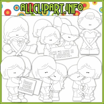BUNDLED SET - Red Ribbon Awareness Clip Art & Digital Stamp Bundle - Alice Smith