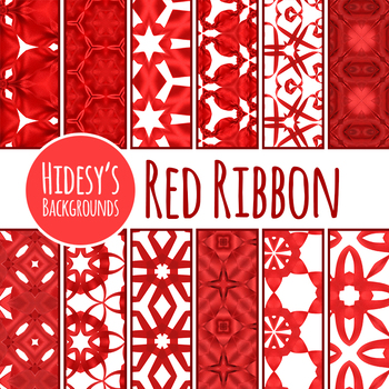 Red Ribbon Backgrounds / Digital Papers Clip Art for Commercial Use