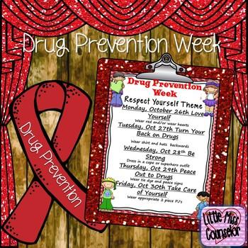 Red Ribbon Week Editable Flyer