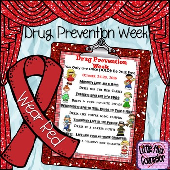 Drug Prevention Week Flyer Editable
