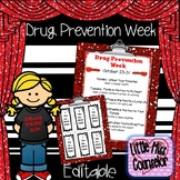 Drug Prevention Week Editable