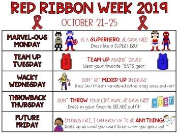 Red Ribbon Week 2017 Flyer