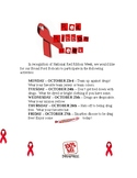 Red Ribbon Week 2017 school wide activities