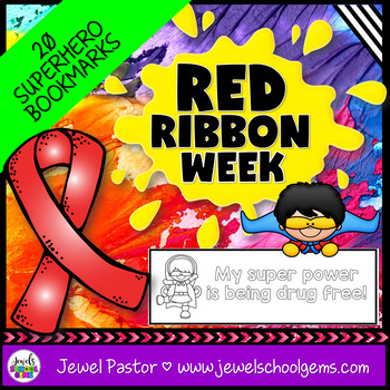 Red Ribbon Week Activities (Red Ribbon Bookmarks)