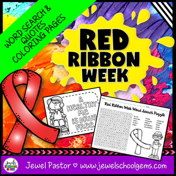 Red Ribbon Week Word Search