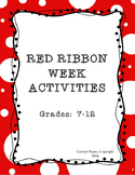 Red Ribbon Week:  Activities
