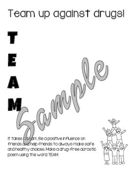 Red Ribbon Week Activity Book with Writing Prompts