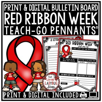 Red Ribbon Week Activity: Pledge to Just Say No! Teach- Go Pennants™