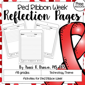 Red Ribbon Week Reflection Pages (Tune Out Drugs)