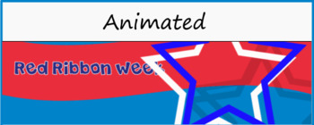Red Ribbon Week Animated Banner for Google Classroom