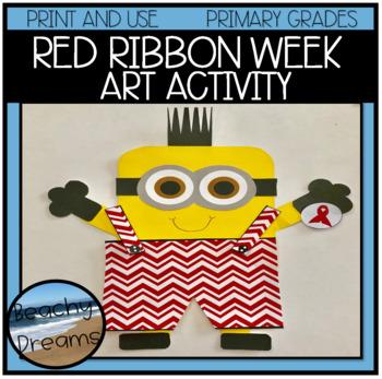 #harvestdeals Red Ribbon Week Art Activity For Primary Grades