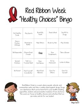 Red Ribbon Week Bingo