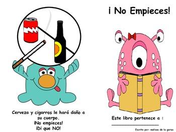 """Red Ribbon Week Book """" Don't Start""""! Spanish Version"""