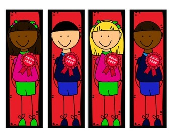 Red Ribbon Week Bookmarks