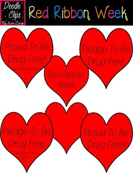 Red Ribbon Week {Clipart}
