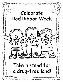 Red Ribbon Week Coloring Pages! by Miss P's PreK Pups | TpT