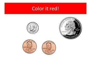 Red Ribbon Week Counting Coins