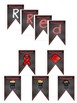 Red Ribbon Week Decor pennant  for class or PTA