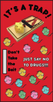 Red Ribbon Week Door Bulletin Board Just Say No To Drugs