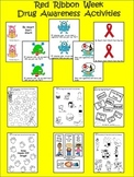 Red Ribbon Week - Drug Awareness Activity and Posters