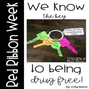 Red Ribbon Week Drug Free Craft