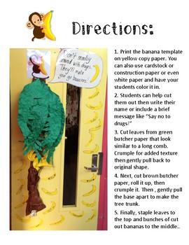 Red Ribbon Week Bulletin Board Display or Door Decor FREE