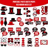Red Ribbon Week Drug Free Printable Photo Booth Prop Set
