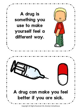 Updated!! Red Ribbon Week Drug Mini Book, Worksheets, and Coloring Pages