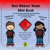 Updated!! Red Ribbon Week Drug Mini Book, Worksheets, and