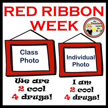 Red Ribbon Week - Editable Picture Frames