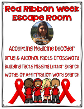 Red Ribbon Week Escape Room (3rd-6th Drug, Alcohol, and Bully Prevention)