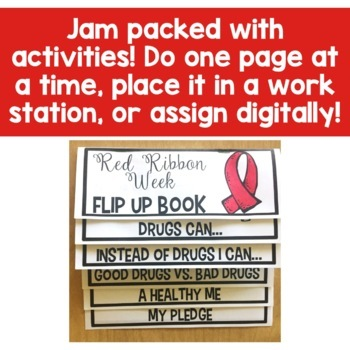 Red Ribbon Week Flip Up Book