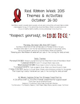 Red Ribbon Week Handout #2