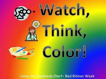 Red Ribbon Week Hundreds Chart Fun