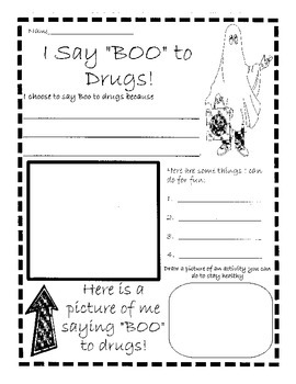 """Red Ribbon Week:  """"I Say Boo to Drugs!"""""""