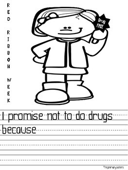 Red Ribbon Week I promise to be drug free