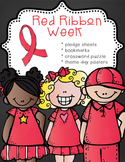 Red Ribbon Week – Just Say No activities, pledge cards, bo