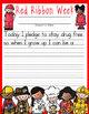 Red Ribbon Week – Just Say No activities, pledge cards, bo