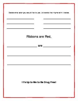 Red Ribbon Week Language Arts Activity