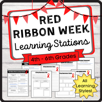 Red Ribbon Week Learning Stations (Last Week in October!)