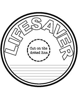 Red Ribbon Week Lifesaver Pattern