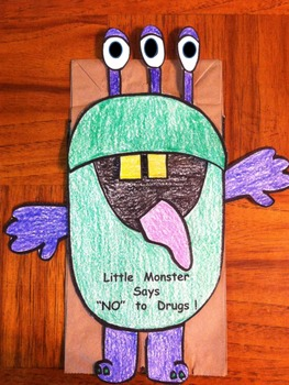 Red Ribbon Week Monster says No to Drugs Puppet