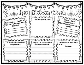 Red Ribbon Week Pair and Share Poster Activity